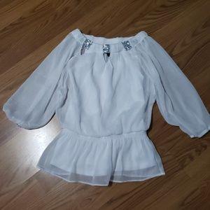 Girls white dress shirt.